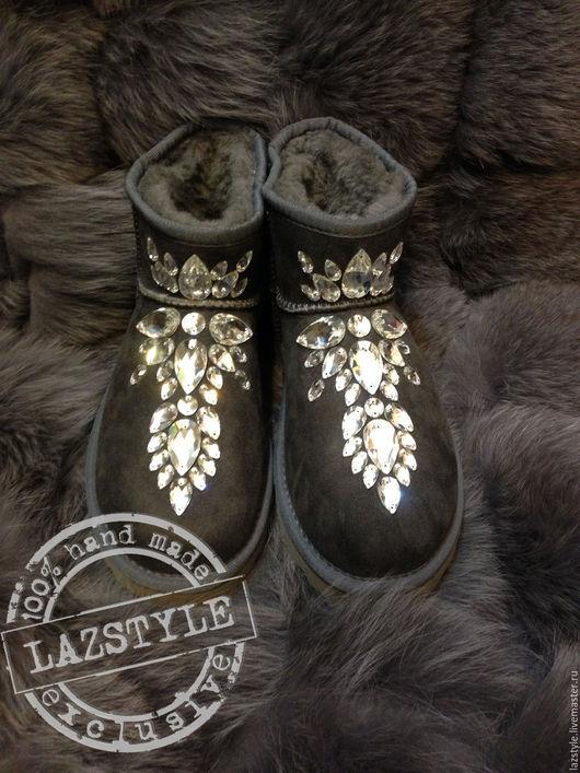 Обувь ручной работы. Ярмарка Мастеров - ручная работа. Купить Эксклюзивные Ugg's U-5. Handmade. Серый, ugg australia