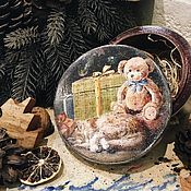 Подарки к праздникам handmade. Livemaster - original item Who is there under the tree? - Christmas bonbonniere. Handmade.