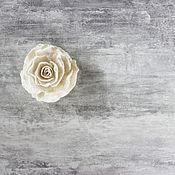 Украшения handmade. Livemaster - original item White felt brooch