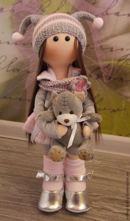 Коллекционные куклы ручной работы. Ярмарка Мастеров - ручная работа. Купить Текстильная куколка ручной работы Мурочка. Handmade. Розовый