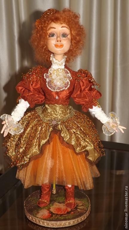 Коллекционные куклы ручной работы. Ярмарка Мастеров - ручная работа. Купить Сентябрина (паутинки осени). Handmade. Рыжий, кукла в подарок