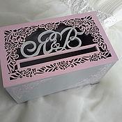 Свадебный салон ручной работы. Ярмарка Мастеров - ручная работа Свадебный сундучек Розовый вечер. Handmade.