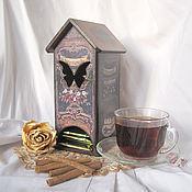 """Для дома и интерьера ручной работы. Ярмарка Мастеров - ручная работа Чайный домик """"Крепкий чай"""". Handmade."""
