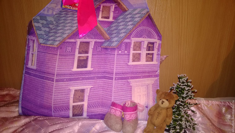 Дом для кукол из коробки своими руками мастер класс