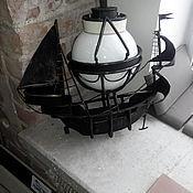Для дома и интерьера ручной работы. Ярмарка Мастеров - ручная работа Люстра кованная Кораблик. Handmade.