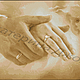 Совет да любовь! Авторская схема для вышивки крестом (можно без надписи и ангелочка, по вашему желанию).