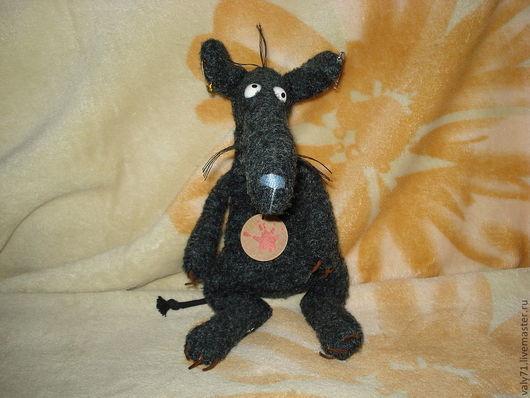 """Игрушки животные, ручной работы. Ярмарка Мастеров - ручная работа. Купить Крыса """"Чёрная пятница"""" коллекционная Sigikid. Handmade. Серый"""