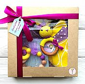 Куклы и игрушки handmade. Livemaster - original item Gift set for girls yellow-purple. Handmade.