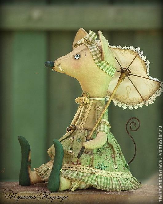 Ароматизированные куклы ручной работы. Ярмарка Мастеров - ручная работа. Купить Винтажная барышня - Мышь Шуша. Ароматизированная Интерьерная Игрушка. Handmade.