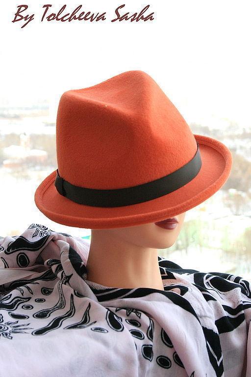 Шляпы ручной работы. Ярмарка Мастеров - ручная работа. Купить Весне дорогу ! Шляпа женская.. Handmade. Оранжевый