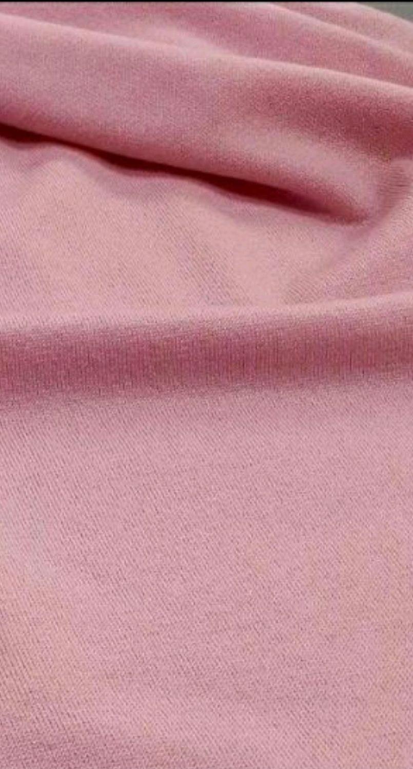 Ткань трикотаж шерсть с кашемиром розовый, Ткани, Москва,  Фото №1