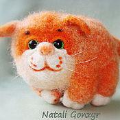 Куклы и игрушки ручной работы. Ярмарка Мастеров - ручная работа кот войлочный Котофей. Handmade.