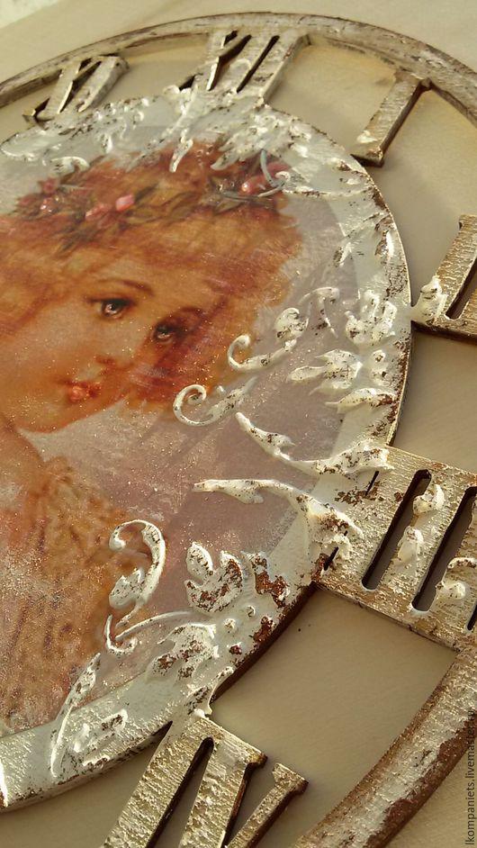 """Часы для дома ручной работы. Ярмарка Мастеров - ручная работа. Купить Часы """"Куколка"""". Handmade. Белый, часы для детской"""