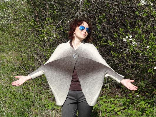 Кофты и свитера ручной работы. Ярмарка Мастеров - ручная работа. Купить Кардиган из чистой эстонской шерсти. Handmade. Темно-серый