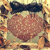 """Для дома и интерьера ручной работы. Ярмарка Мастеров - ручная работа Интерьерная вышивка """"Сердце"""". Handmade."""