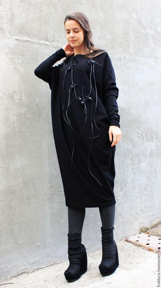 """Платья ручной работы. Ярмарка Мастеров - ручная работа. Купить Платье """"Black Style"""" D0012. Handmade. Платье на осень, туника"""