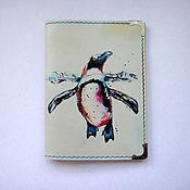 """Подарки к праздникам ручной работы. Ярмарка Мастеров - ручная работа обложка для паспорта """"Пингвин"""". Handmade."""