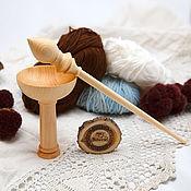 Материалы для творчества handmade. Livemaster - original item The spindle for spinning the base for the feet of the Siberian Cedar #B39. Handmade.
