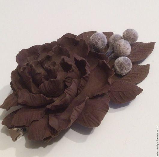 Заколки ручной работы. Ярмарка Мастеров - ручная работа. Купить Заколка для волос из полимерной глины Все в шоколаде. Handmade.