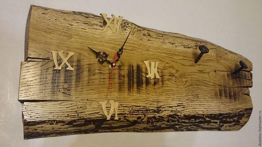Часы для дома ручной работы. Ярмарка Мастеров - ручная работа. Купить Часы дубовые. Handmade. Элемент интерьера, настенные часы