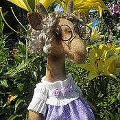 Куклы и игрушки ручной работы. Ярмарка Мастеров - ручная работа интерьерная жирафа Лили. Handmade.