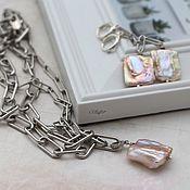 Украшения handmade. Livemaster - original item Large chain with Baroque pearl