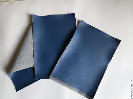 Аппликации, вставки, отделка ручной работы. Ярмарка Мастеров - ручная работа. Купить листы экокожи №4 темно-синий. Handmade.