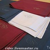 Аксессуары ручной работы. Ярмарка Мастеров - ручная работа Монограммы на носовых платках. Handmade.