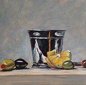 Картины и панно ручной работы. Ярмарка Мастеров - ручная работа Натюрморт с оливками. Handmade.