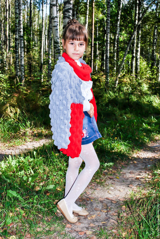 Одежда для девочек, ручной работы. Ярмарка Мастеров - ручная работа. Купить Вязаный кардиган, кардиган спицами, кардиган объемный. Handmade.