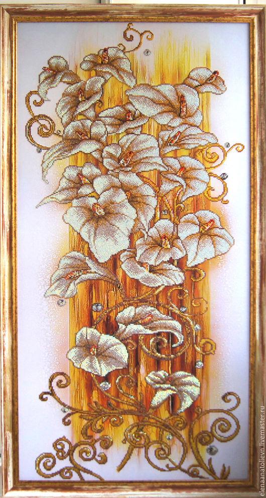 Картины цветов ручной работы. Ярмарка Мастеров - ручная работа. Купить Золотые каллы. Handmade. Комбинированный, алмазная вышивка купить