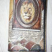 Канцелярские товары handmade. Livemaster - original item Passport cover Leo. Handmade.