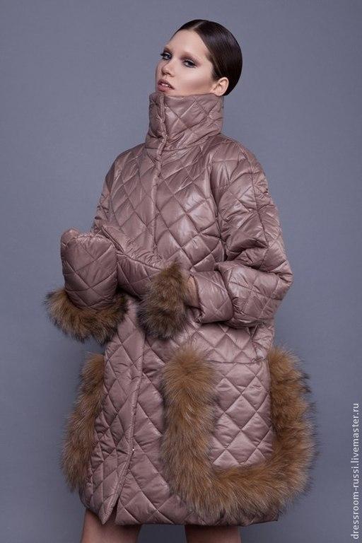 Верхняя одежда ручной работы. Ярмарка Мастеров - ручная работа. Купить Пальто с мехом лисы. Handmade. Бежевый, пальто женское