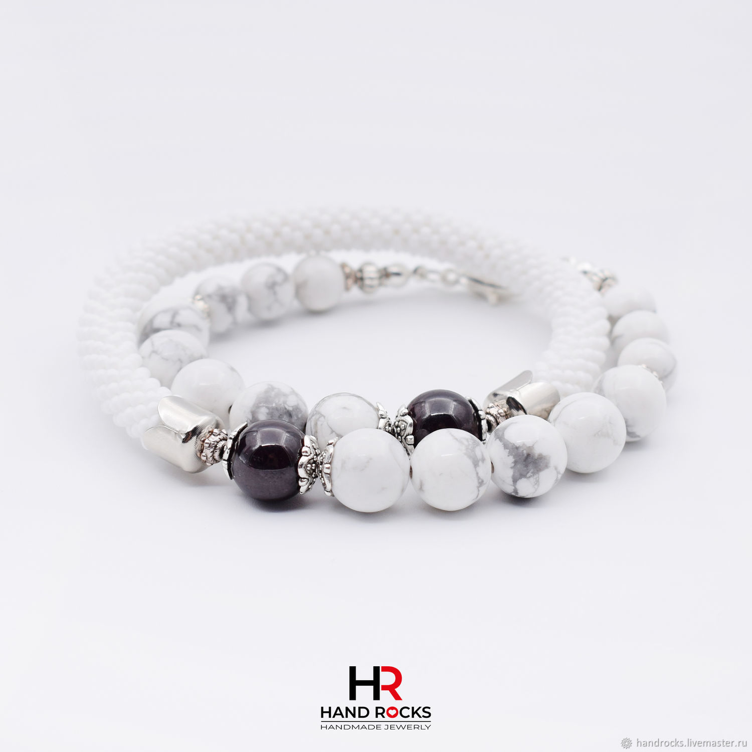 2-turn bracelet made of natural stones ' Checkmate», Bead bracelet, Moscow,  Фото №1