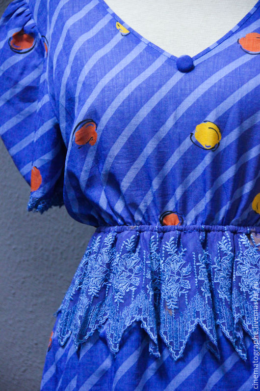 Одежда. Ярмарка Мастеров - ручная работа. Купить Фирменное платье Japan 80-е винтаж. Handmade. Синий, винтаж