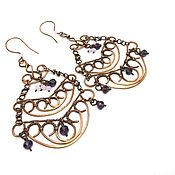 Украшения handmade. Livemaster - original item Earrings made of copper Openwork. Handmade.