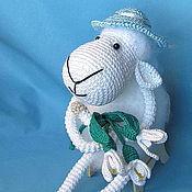 Куклы и игрушки ручной работы. Ярмарка Мастеров - ручная работа Овечка  с подснежниками. Handmade.