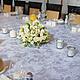 Бело-кремовая свадьба - композиция на столе гостей