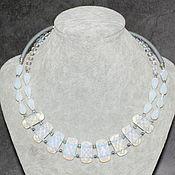 Украшения handmade. Livemaster - original item Moonstone necklace and rubber cord. Handmade.