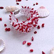 """Украшения ручной работы. Ярмарка Мастеров - ручная работа """"Коралловый браслет"""". Handmade."""