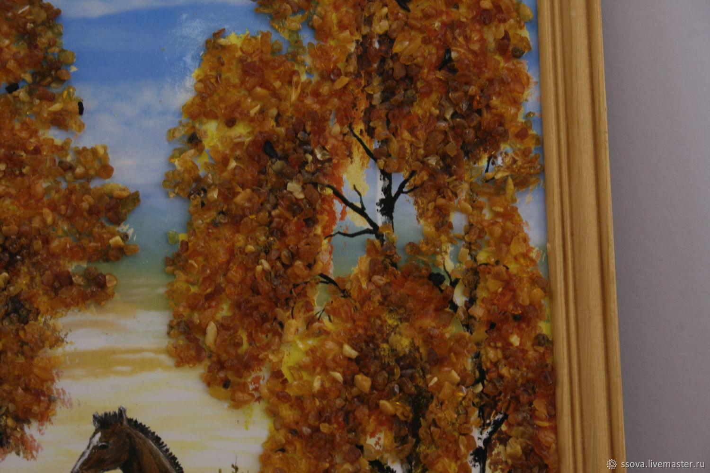 картина из янтаря, Витражи, Вырица,  Фото №1