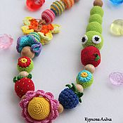 Одежда handmade. Livemaster - original item Slingobusy with a toy, slingobusy developmental - Caterpillar. Handmade.