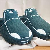 """Обувь ручной работы handmade. Livemaster - original item Мужские валяные тапки """"Поехали-2"""". Handmade."""