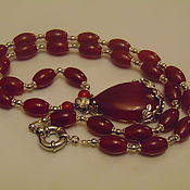 Украшения handmade. Livemaster - original item Necklace of natural carnelian