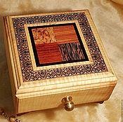 Для дома и интерьера handmade. Livemaster - original item Wooden box Tunbridge ware wooden mosaic, wooden inlay micromosaic. Handmade.