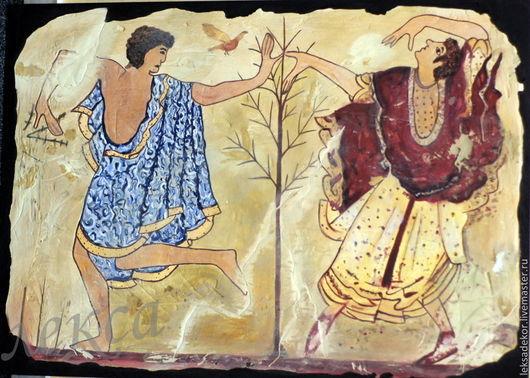 Искусственно состаренная копия древнегреческой фрески. Стильный и необычный подарок со вкусом!