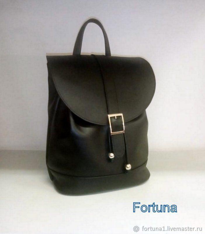 Urban leather backpack ' Black', Backpacks, St. Petersburg,  Фото №1