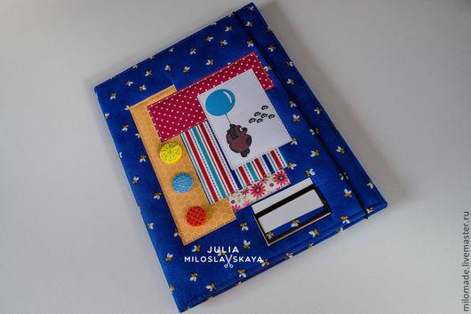 """Папки для бумаг ручной работы. Ярмарка Мастеров - ручная работа. Купить Папка для свидетельства о рождении """"Винни Пух"""". Handmade."""