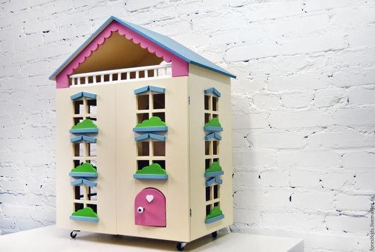 Кукольный дом ручной работы. Ярмарка Мастеров - ручная работа. Купить Кукольный дом. Handmade. Бирюзовый, кукольный домик, барби