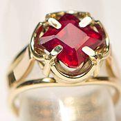 Украшения ручной работы. Ярмарка Мастеров - ручная работа Золотое кольцо с рубином Ruby. Handmade.
